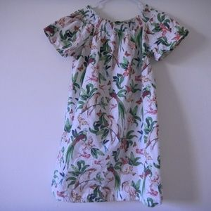 ANN TAYLOR Factory  bird and leaves shirt dress